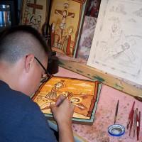 Nick Otero at work